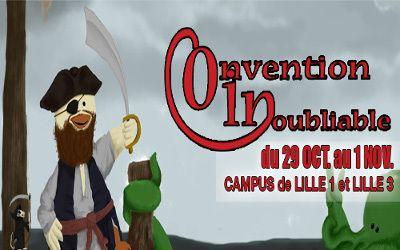 La COnvention INoubliable, alias COIN, est une convention de jeu qui se déroule sur les universités de Lille 1 et de Lille 3. Soirée d'ouverture spéciale Halloween (29/10) à la MDE de l'Université Lille 1 et l'aventure continuera jusqu'au dimanche 1 novembre...