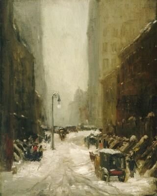Henri Robert 1865-1929. Snow in New York