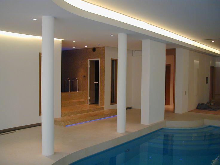 Moderneswohnen villaneubau designarchitektur raumdesign licht lichtdesign lampen pool