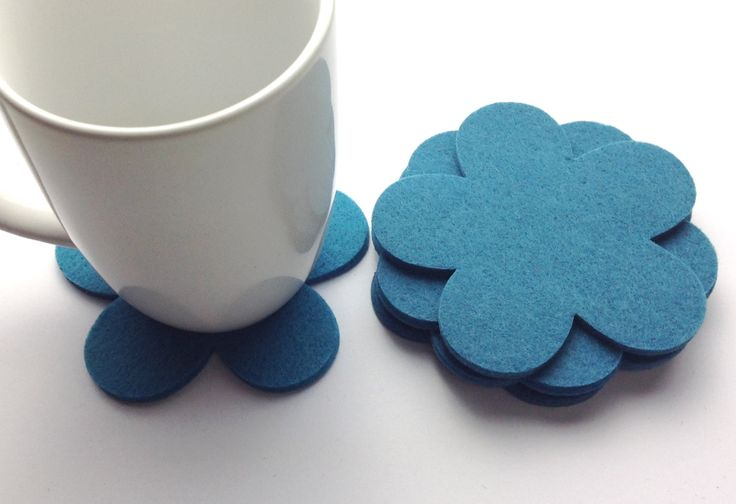 Free Shipping, Geramium felt coasters, thick felt coasters, Felt coasters set, drink coasters, coasters for drink, Flower Coasters by MairasFairyDreams on Etsy
