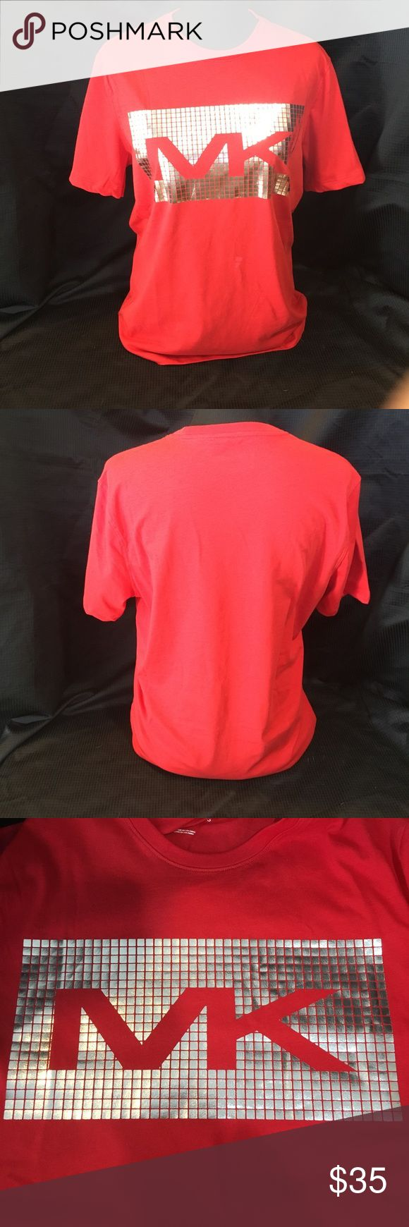 HP SPECIAL!! NWT Michael KORS Red & Silver T-Shirt Michael KORS red and silver t-shirt NWT. Available S, M, L, XL Michael Kors Shirts Tees - Short Sleeve