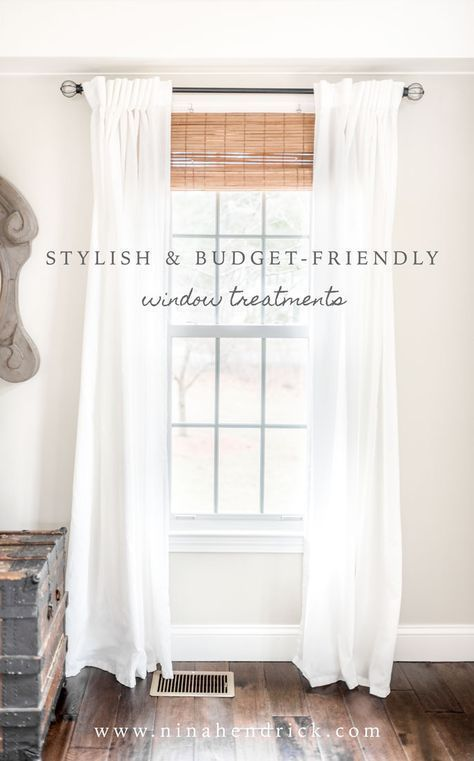 Stylish Budget Window Treatments Attractive And Don T Have To Break The Bank Get Look Of Custom On A