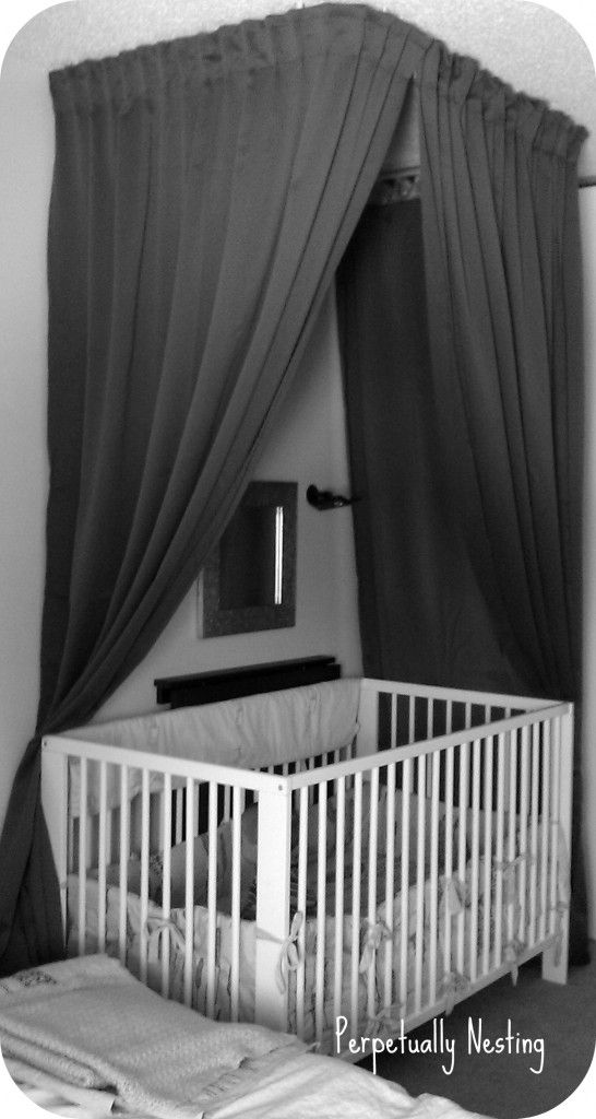 ideas for sharing a bedroom with a newborn....privacy/uninterrupted lighting... I am so doing this since we will be sharing our bedroom for while!!!