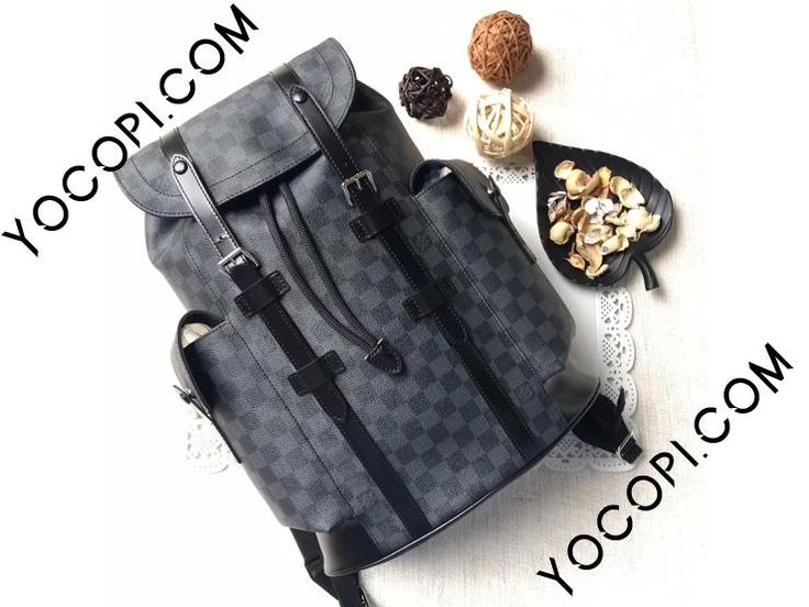 【N41379】 LOUIS VUITTON ルイヴィトン ダミエ・グラフィット バッグ スーパーコピー クリストファー PM ヴィトン メンズ バックパック・リュック