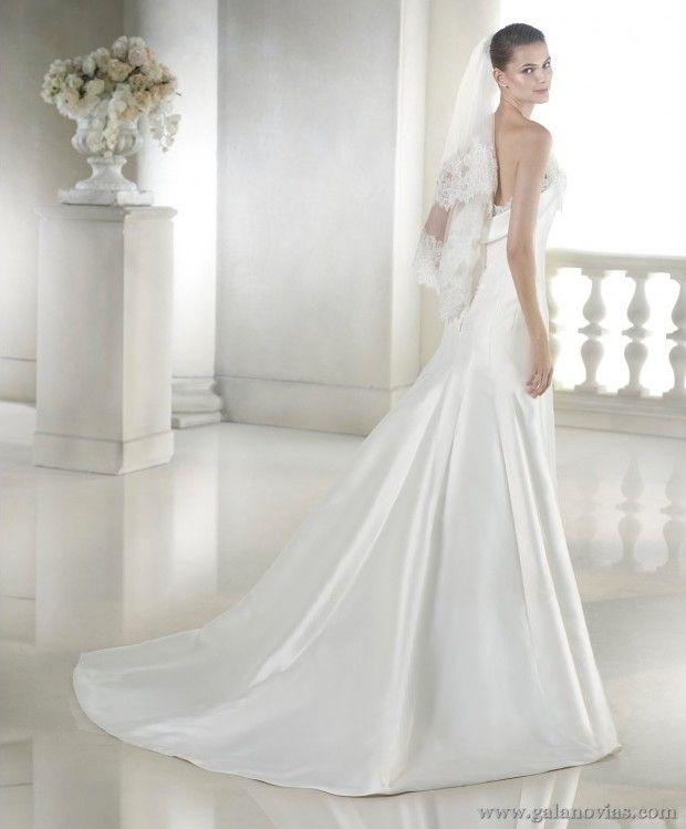 0ada9bcfb6 Elegante vestido de novia sencillo