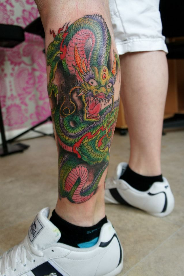 dragon leg tattoo by dirtymosher666 on DeviantArt