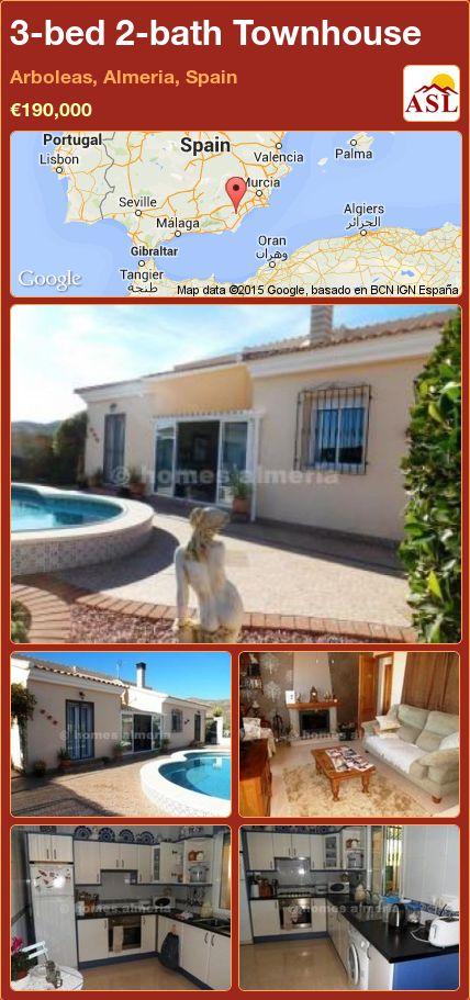 3-bed 2-bath Townhouse in Arboleas, Almeria, Spain ►€190,000 #PropertyForSaleInSpain