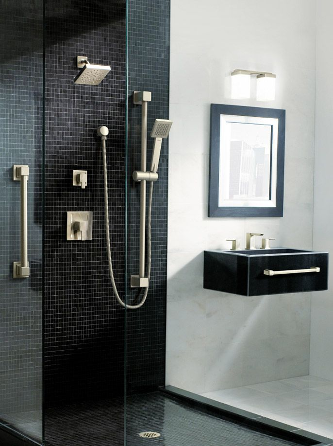 Moen's 90 Degree collection makes any bathroom dramatic and ultra-modern.