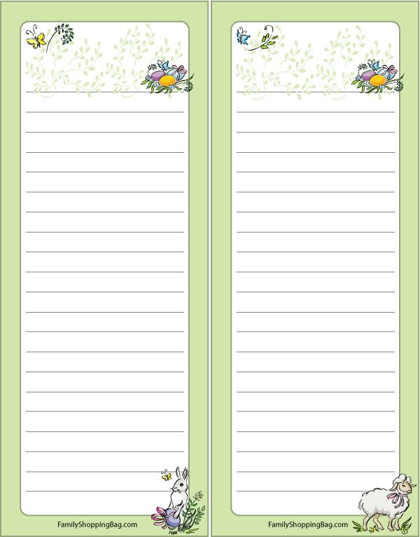 pretty floral grocery list