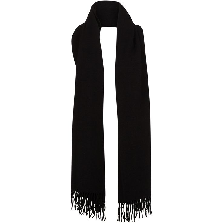 Gro wool scarf #black #soft #wide #wool #scarf #winter #classic