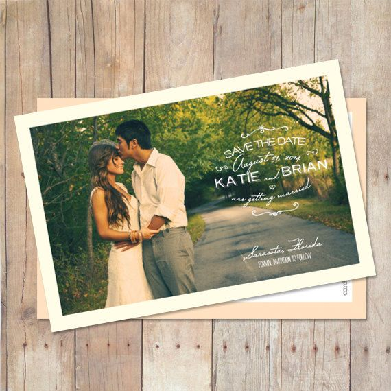 Save-The-Date-Magnet, Save-The-Date-Postcard, Save The Date Card, Printable Save The Date, Custom Colors, Photo, $15.00