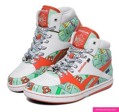 And in my quest to find old board games, I accidentally found these sneakers. Which are completely mad. So clearly I want them, too.