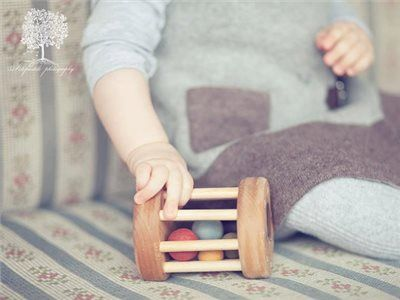 Baby Rattle Toy Organic Baby Toy Handmade Wooden by FriendlyToys