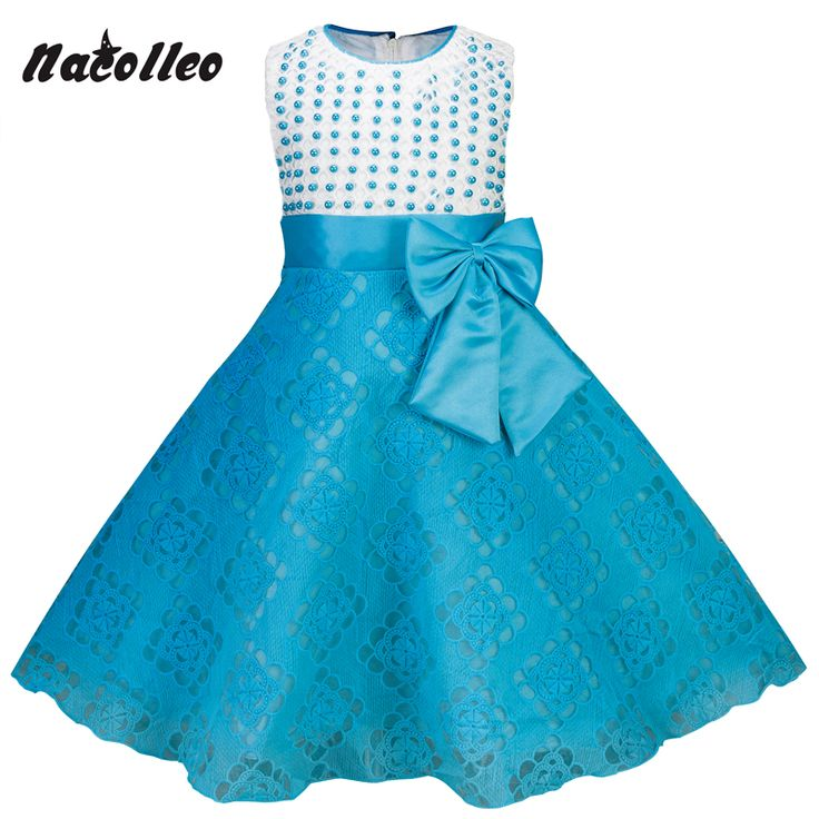 3-10 Years Children Clothing New Kids Dress Summer Princess flower Baby Girls Bow Dresses Birthday Beading Dress For Party #Affiliate