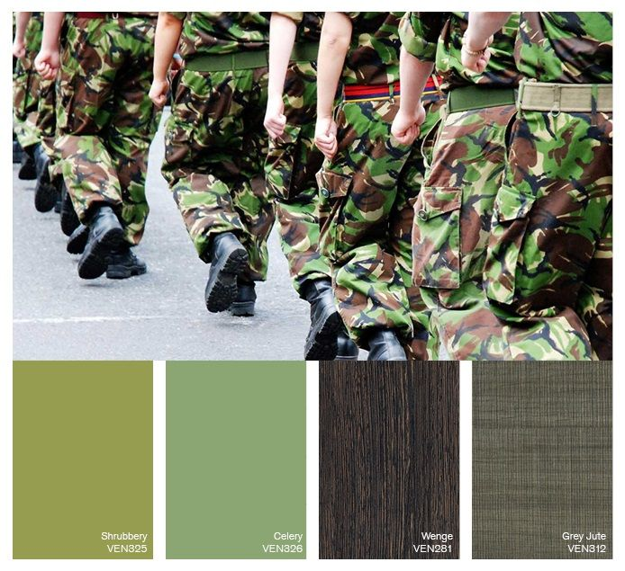 We created a colour palette to show our support for the Army Reserves
