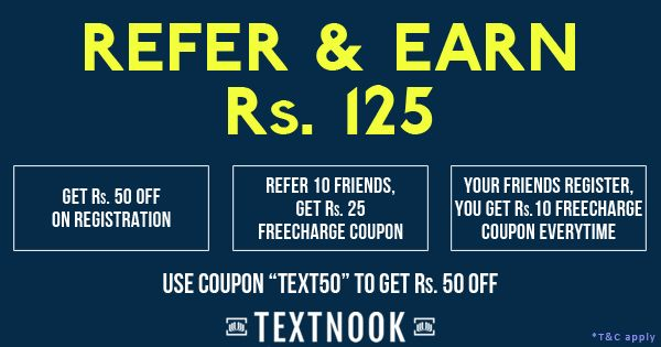 GET 50, GIVE 50 & EARN MORE! Refer friends & Get Rs. 125 Freecharge Coupons.