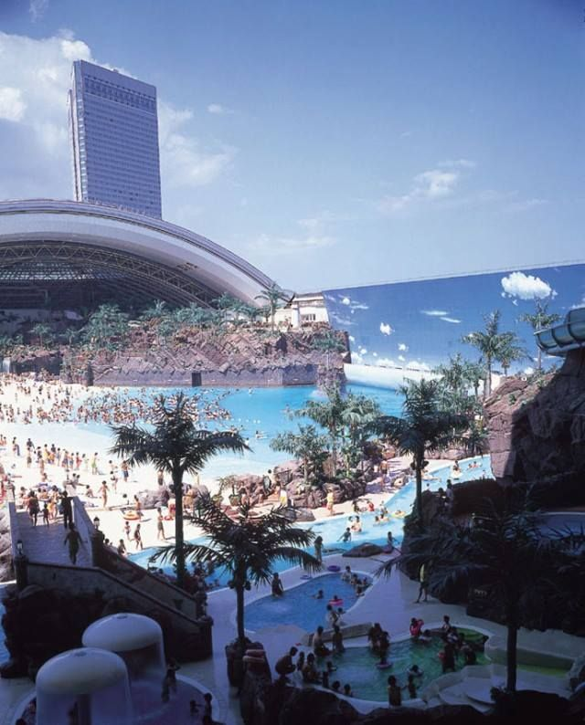 The SeaGaia Ocean Dome - with his 300 meters long and 100 meters wide - is the largest indoor waterpark in the world.