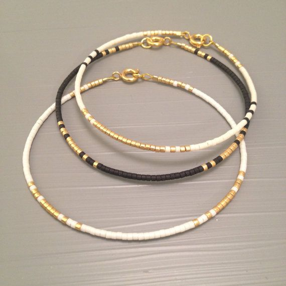 14 kt Gold Fill Bead Stacking Bracelet , Seed Bead Wrap Friendship Bracelet , Stackable Jewelry , Bead Jewelry When checking out, please leave in