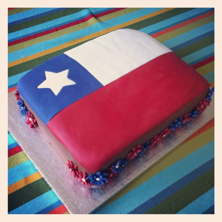 Bandera de Chile - Flag of Chile Cake