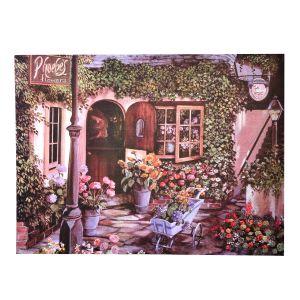 Bahçe Desenli Kapı Paspası