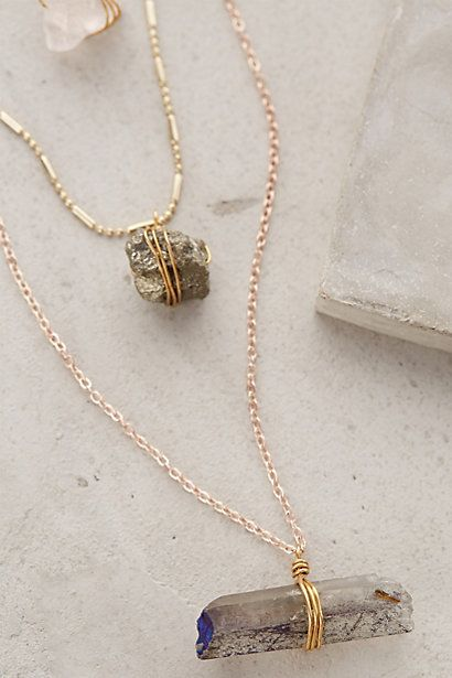 Stacked Stone Necklace #anthroregistry