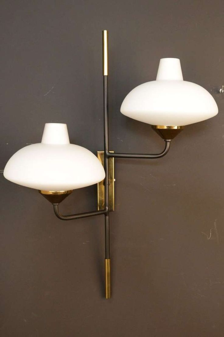Pair of 1950's Japanese Style Stilnovo Sonces | From a unique collection of antique and modern wall lights and sconces at http://www.1stdibs.com/furniture/lighting/sconces-wall-lights/