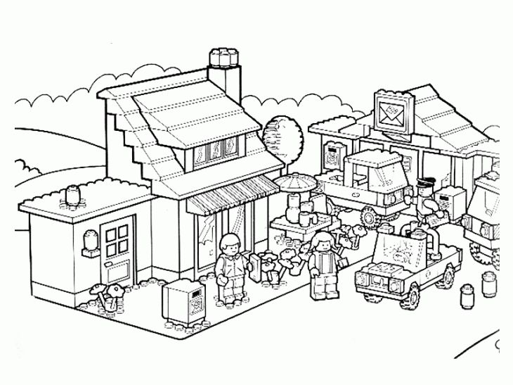Free Printable Lego City Coloring Page Online