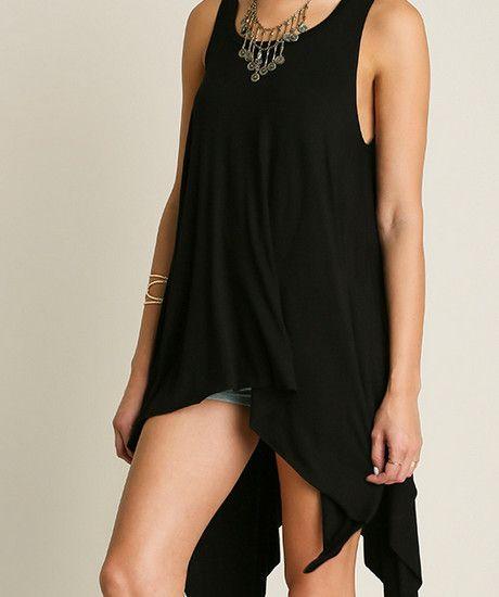 Hi-Lo Sleevless Tunic Top (Ladies) – Rose Gold Vintage