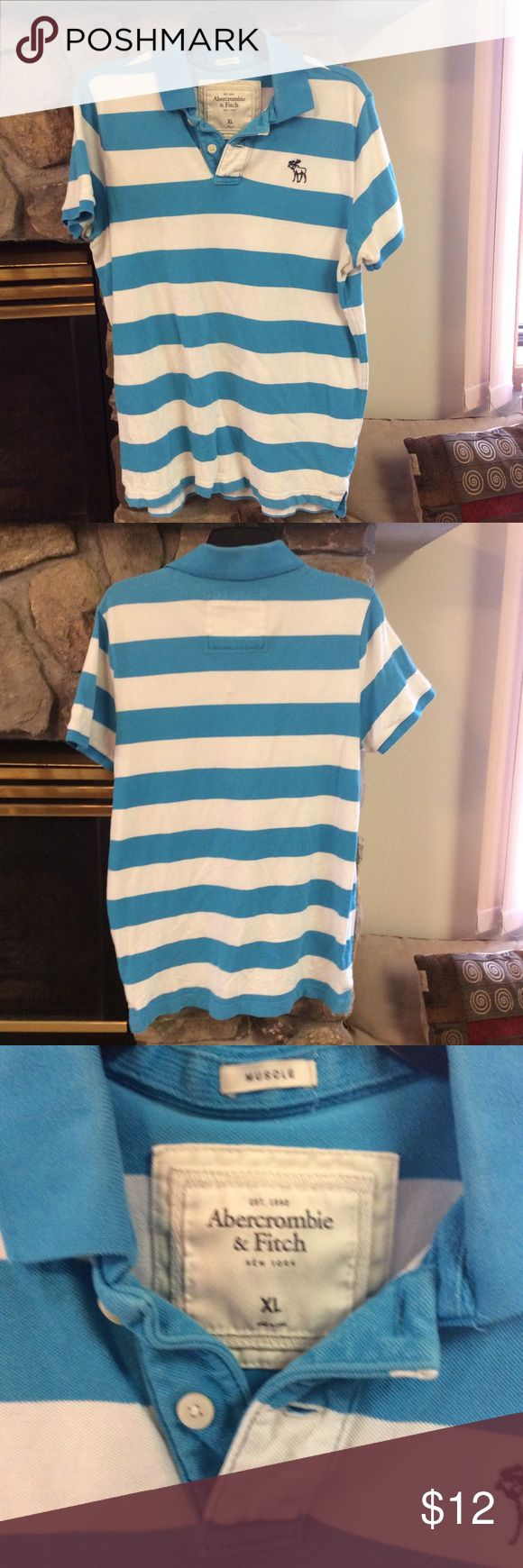 Abercrombie Men's Knit Polo Abercrombie men's knit short sleeve polo.  Size is XL.  This polo is in good condition. Bundle to save on shipping. Abercrombie & Fitch Shirts Polos