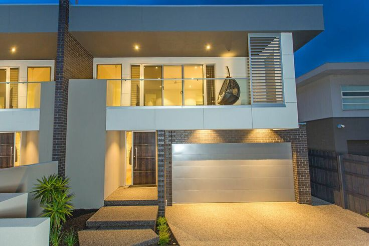 Modern exterior to townhouse.