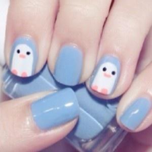 Play it Safe at the Nail Salon: Penguins Nails, Nails Art, Nails Design, Nailart, Cute Nails, Penguin Nails, Naildesign, Nails Ideas, Cutenails
