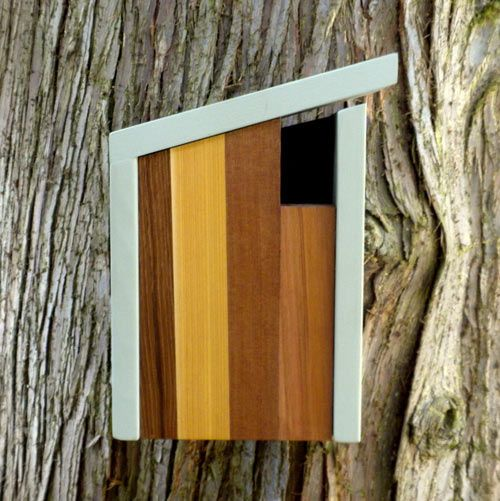 Modern Birdhouses from Twig