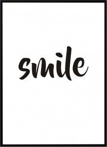 Plakat Smile - różne rozmiary
