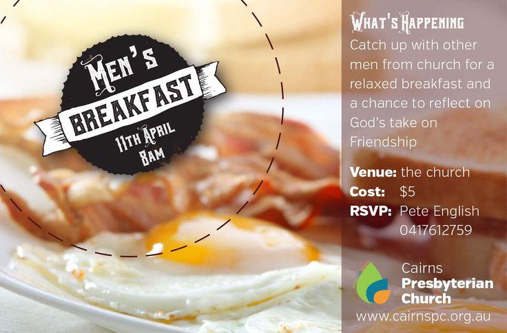 men's Breakfast flyer