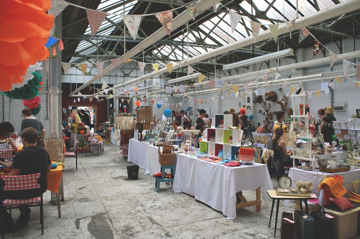 Bird in Borrowed Feathers' Summer Market, in the Vintage Warehouse, Nottingham