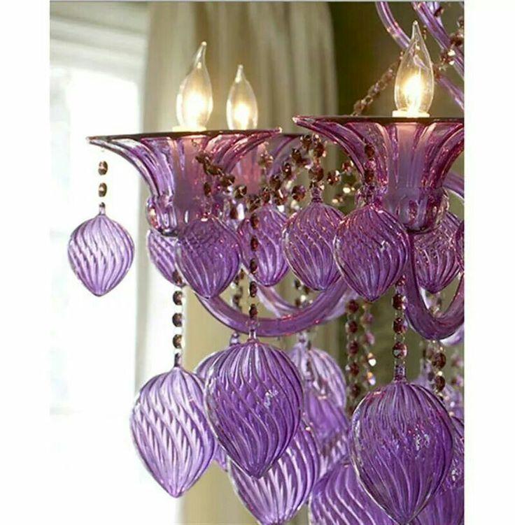 25 Best Ideas About Purple Chandelier On Pinterest