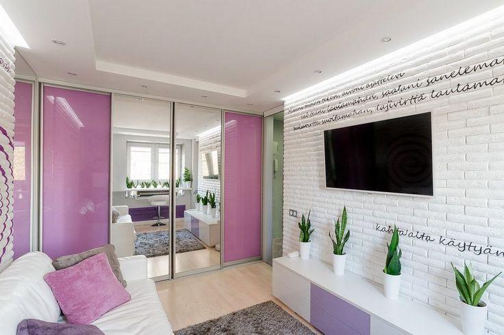 Ötletek egészen kis alapterületű lakások berendezéséhez: 20nm, világos modern dekorációval ...