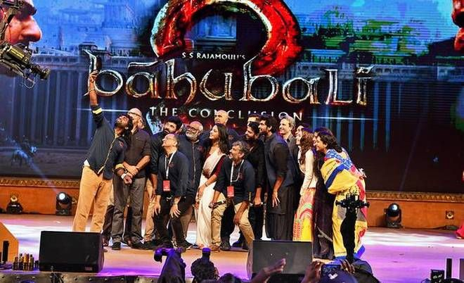 A month prior to the arrival of Baahubali 2-The Conclusion, the audio release program of the film was held at Ramoji Film City on Sunday.