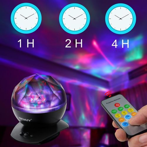 Soothing Aurora LED Night Light Projector Remote Music Speaker Mood Lamp Room  #home #lights #effects #Aurora