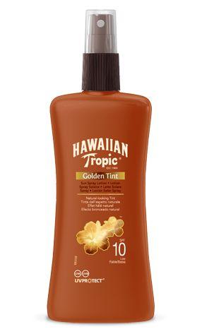 Hawaiian Tropic Golden Tint Loción protectora solar en spray SPF 10 (200ml)