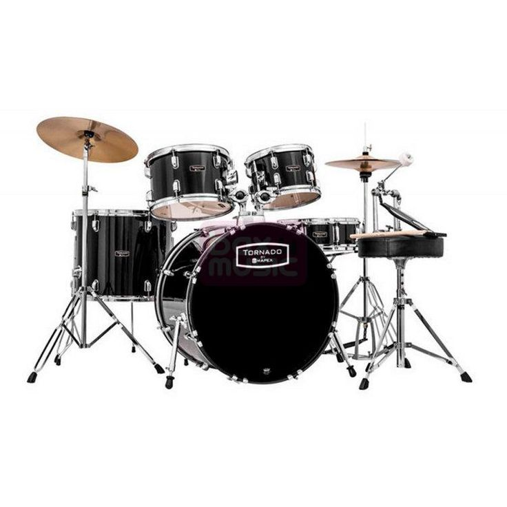 Mapex Tornado TND5044TC-DK vijfdelig drumstel Black kopen? | Bax-shop