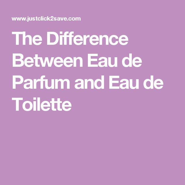 The Difference Between Eau de Parfum and Eau de Toilette