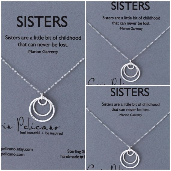 Sisters Necklace. Three Sisters jewelry. Bridesmaid Gifts. Inspirational gift. Inspirational jewelry.