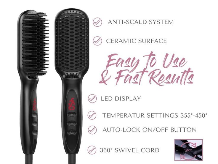 Ultimate Hot Brush Hair Straightener by ZOOLA- Women's Electric Hair Brush Professional Styling Tool, 2 in 1 Heated Hair Straightening Brush, Anion Technology, Anti-Scald, 250F - 450F and Fast Heating ** Read more info by clicking the link on the image. #hairtreatment