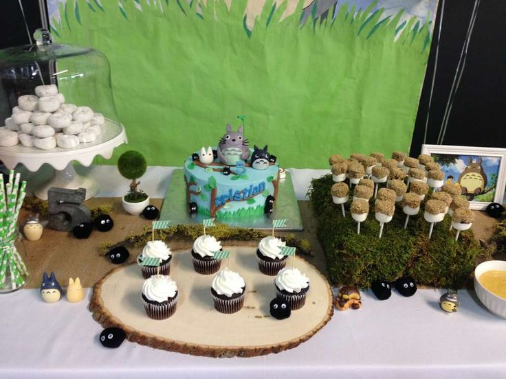 Cute treats at a My Neighbor Totoro birthday party! See more party planning ideas at CatchMyParty.com!