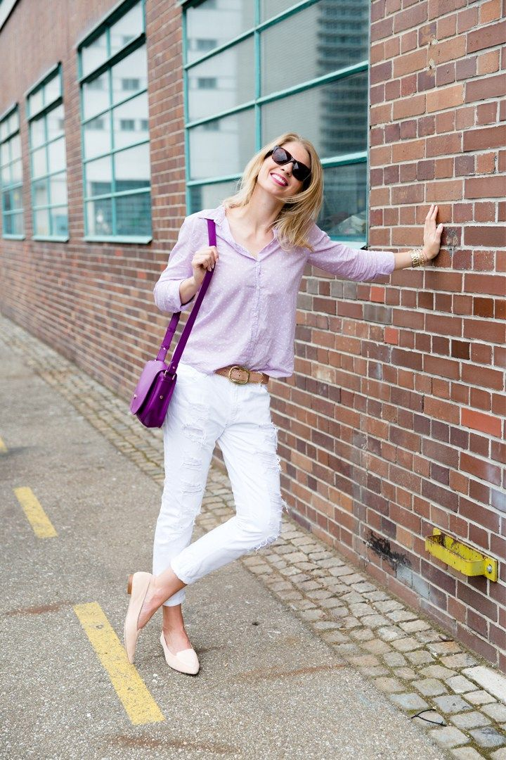 Pastell Bluse + weisse Jeans_7 ways to wear| Outfits