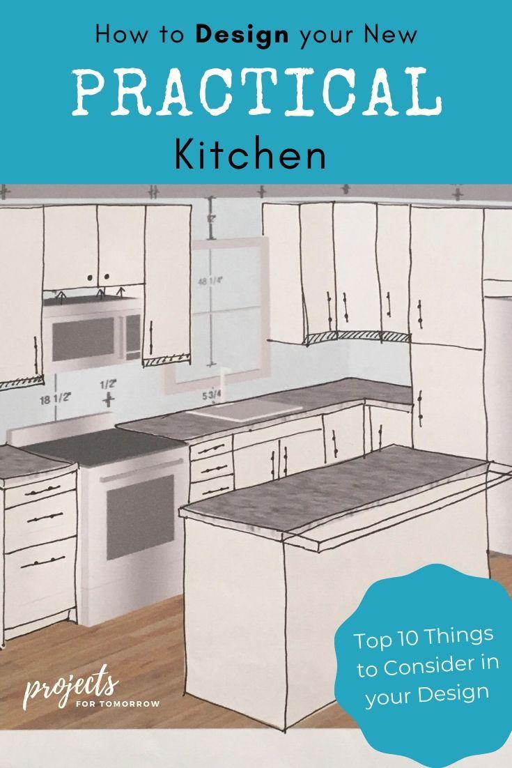 How to Design your New Practical Kitchen   Kitchen design diy ...