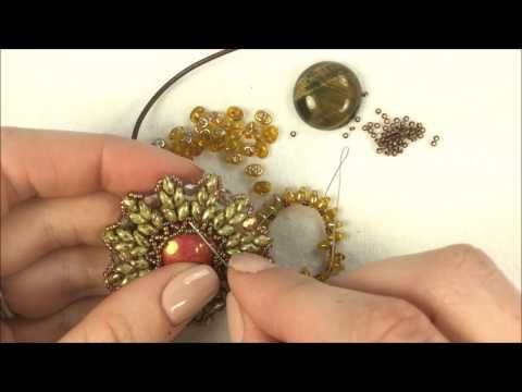 pendant with superduos ~ Seed Bead Tutorials