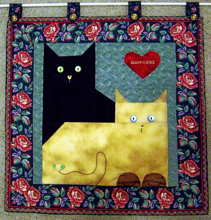 171 best Cats \'n Quilts images on Pinterest | Kitty cats, Animal ...