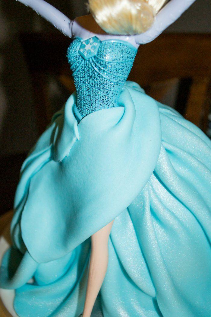 Manzana&Canela: Tarta de muñeca Elsa (Frozen) - Paso a paso